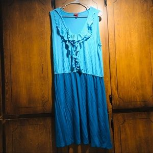 Blue Two Tone Dress